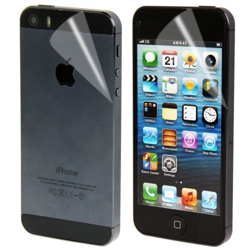Screen protector Apple iPhone 5, 5S,  Front and Back
